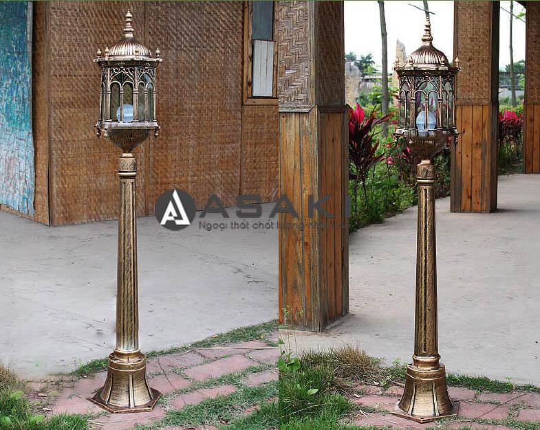 Đèn trụ cổng nhôm thiết kế độc đáo ROL 424