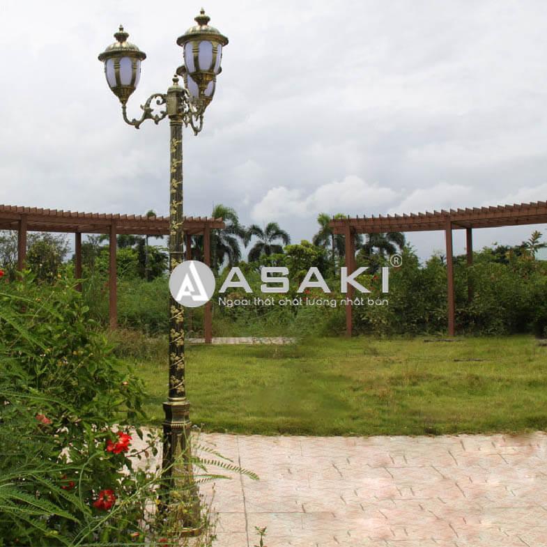 Đèn trụ khuôn viên sân vườn họa tiết độc đáo ROL436