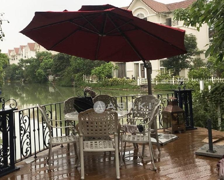 Lắp đặt ngoại thất sân vườn tại nhà anh Cảnh - khu đô thị Ecopark